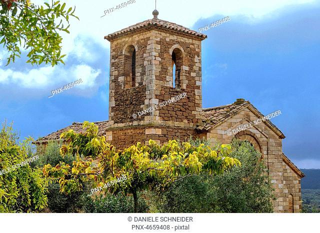 Spain, autonomous community of Aragon, Sierra and Ca¤ones natural park, Rio Vero natural park (UNESCO World Heritage), church of Asque