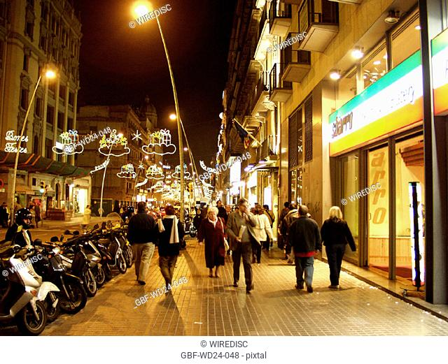People, Shopping, night