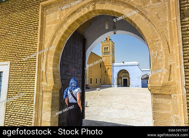 Entrance. Mosque of the Barber. Kairouan. Tunisia, Africa
