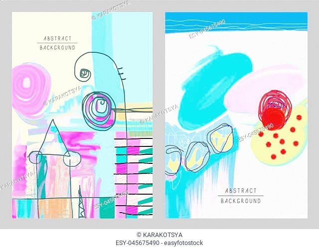 original artistic abstract creative universal design, you can use this artwork print in interior, page decoration, packing, poster, card, invitation, placard