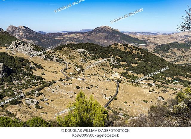 Landscape below the village of Grazalema, Cadiz province, Andalucia, Spain
