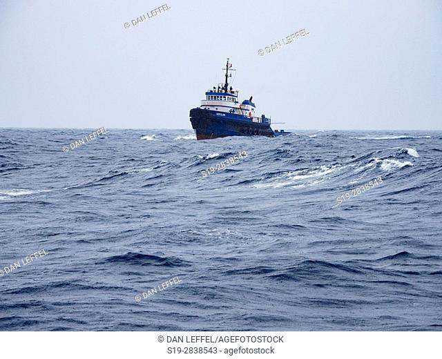 Maui Ship in Rough Seas
