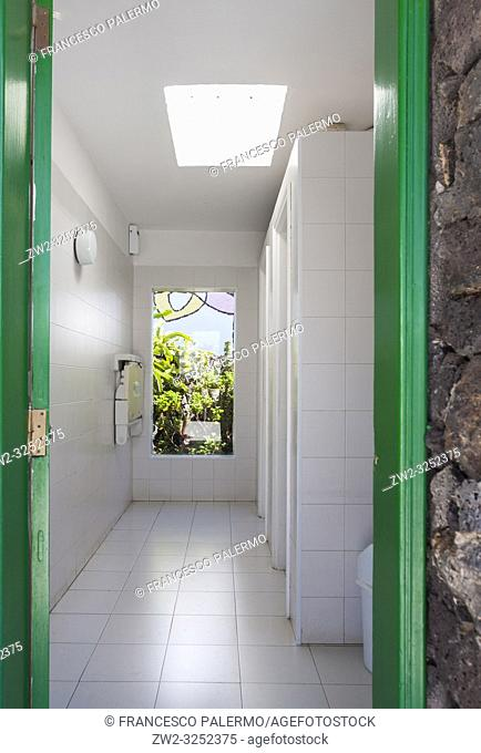 Interior and furnishings of the foundation. Canals, Lanzarote. Spain