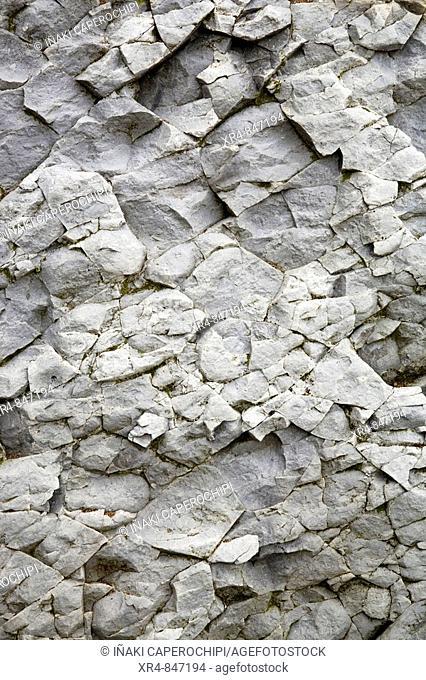 Rock, cliffs of Itzurun. Zumaya (Zumaia), Guipuzcoa (Gipuzkoa), Basque Country, Spain