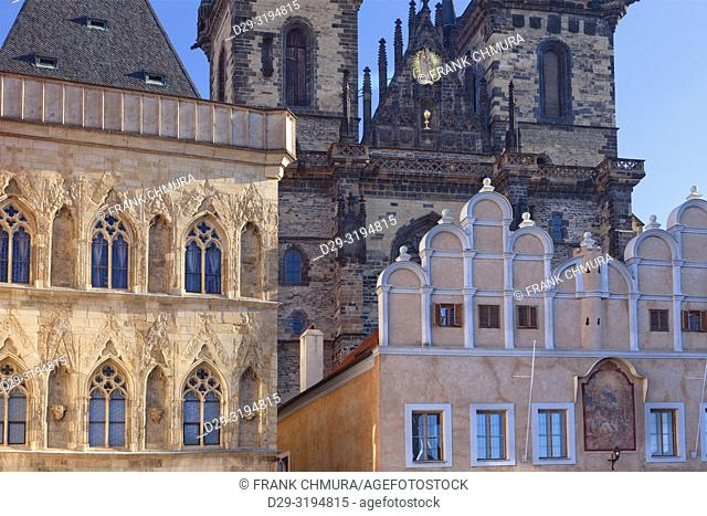 Czech Republic, Prague - The Old Town Square and Tyn Church