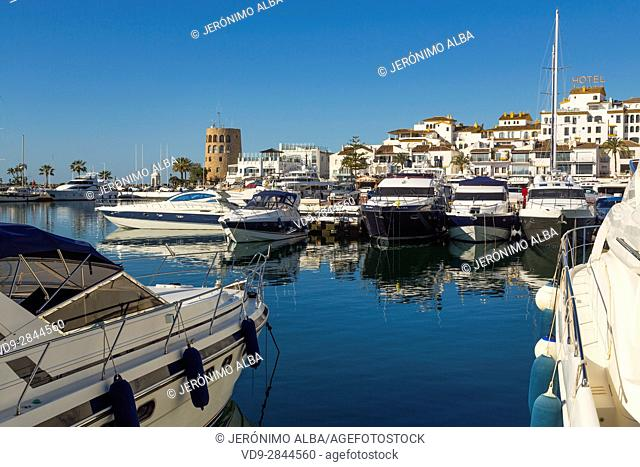 Marina Puerto Banus, Marbella. Malaga province Costa del Sol. Andalusia Southern Spain, Europe