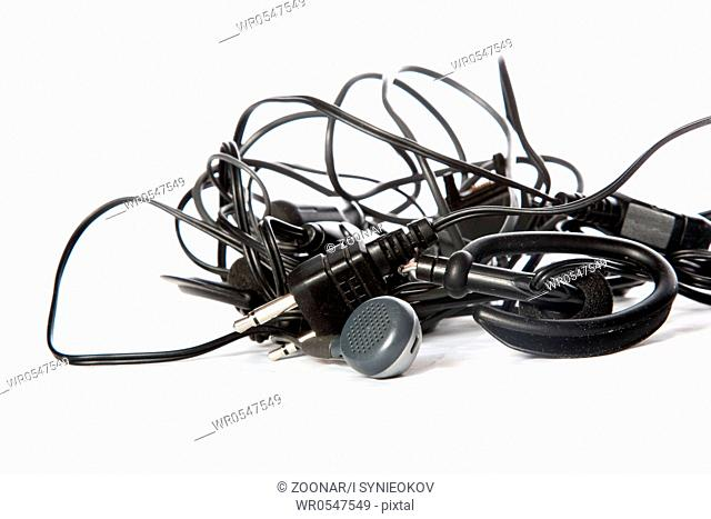 Tangled Telephone Cable Stock Photos And Images