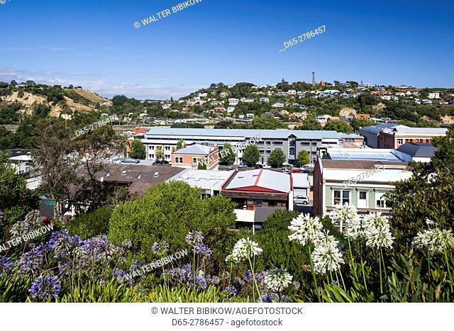 New Zealand, North Island, Wanganui, elevated city skyline