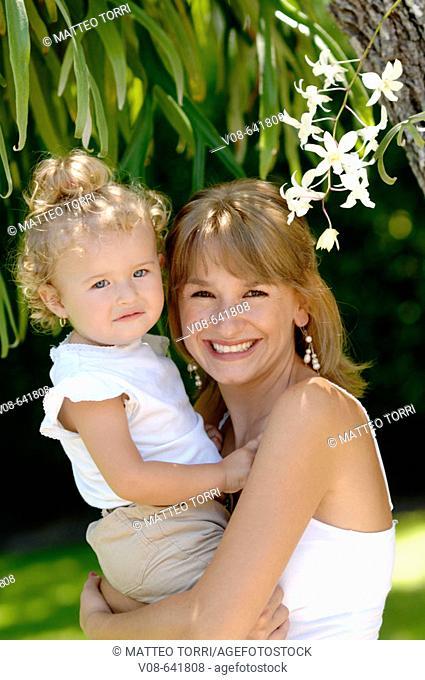 Mother and daughter. Miami, Florida, USA