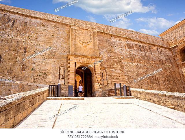 Ibiza main door Dalt Vila entrance Portal de Ses Taules fortress