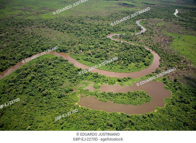 Miranda River and Abandoned Intrigue, Miranda, Mato Grosso do Sul, Brazil