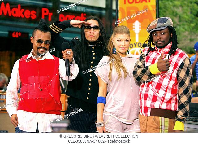 Apl.de.Ap, Taboo, Fergie, Will.I.Am on stage for NBC Today Show Concert Series with BLACKEYED PEAS, Rockefeller Center, New York, NY, June 03, 2005