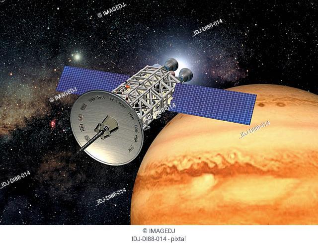 Jupiter and satellite