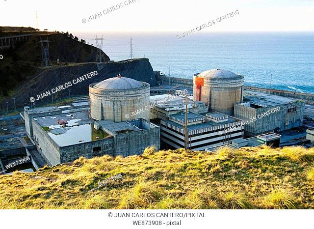 NPP, nuclear power station of Lemoniz, Biscay, Basque Country, Spain
