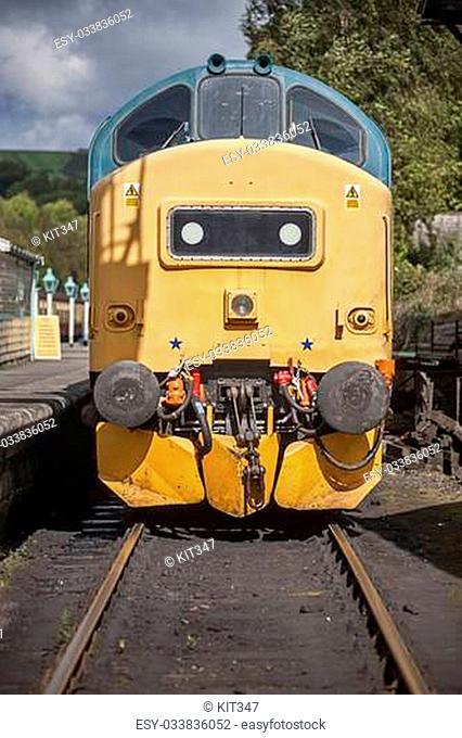 Class 37 37275 at Grosmont North yorkshire moors railway .UK