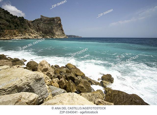 Cala Moraig in Benitaxell coast Alicante province Spain