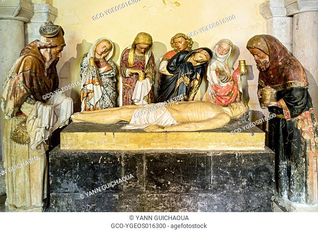 Burial of Jesu, Cathedral Saint Cyr and Sainte Julitte, Nevers, Nievre, France