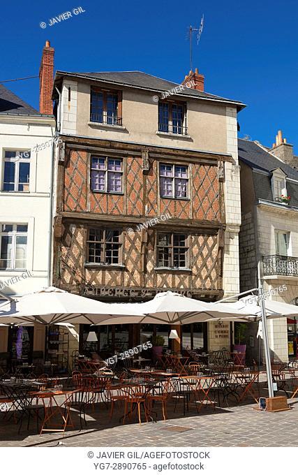 Saint Pierre square, Saumur, Pays de la Loire, Maine-et-Loire, France