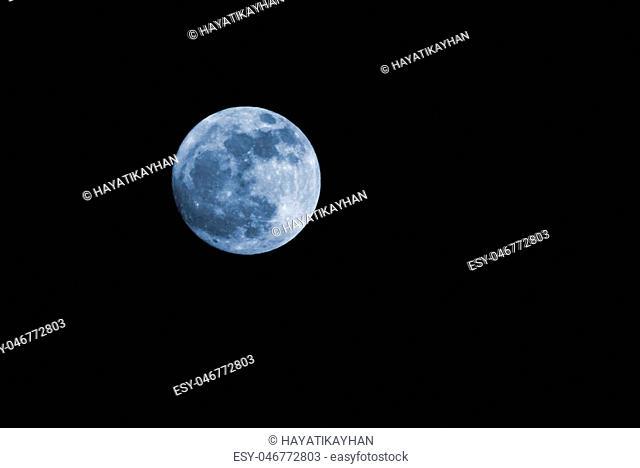 Moon,on night sky