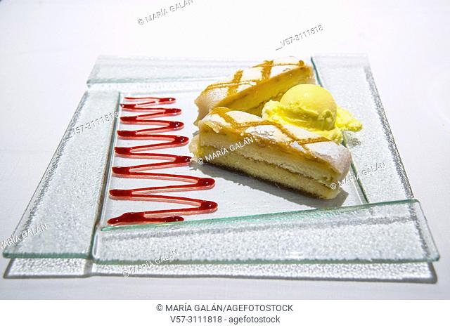 Ponche segoviano, traditional dessert from Segovia. Spain