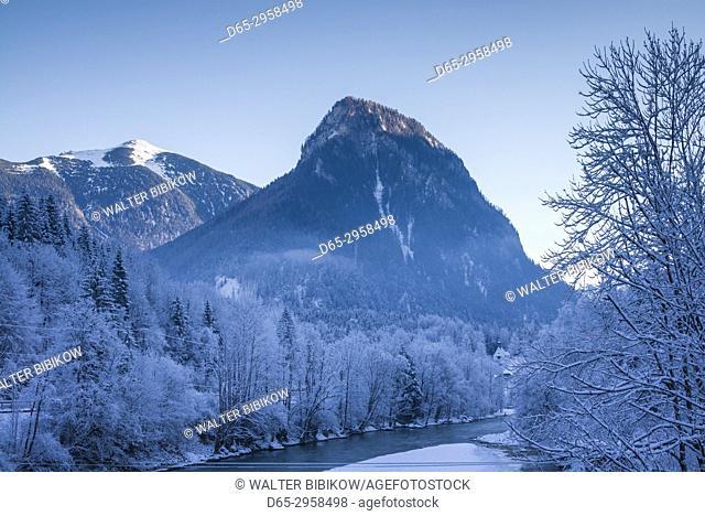 Austria, Styria, Hieflau, winter landscape of the Gesause National Park