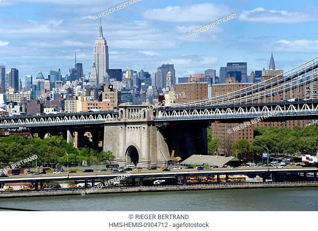 United States, New York City, Manhattan, Manhattan Bridge