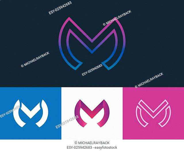 m letter logo design. creative logotype design