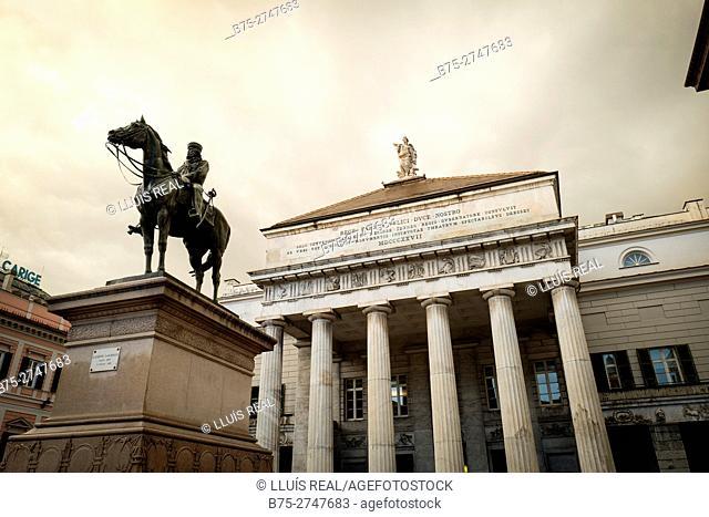 Monument to Garibaldi, Piazza Raffaele De Ferrari, Genova, Italy