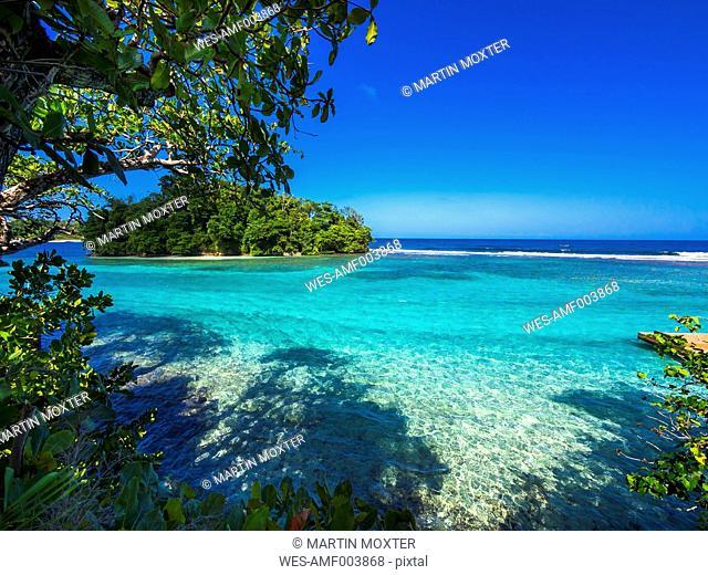 Caribbean, Greater Antilles, Jamaica, Portland Parish, Port Antonio, View to Pellew Island