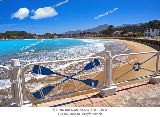 Ribadesella Santa Marina beach in Asturias of Spain
