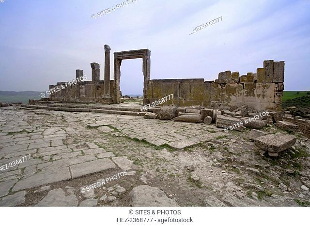 A temple in Dougga (Thugga), Tunisia