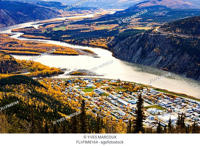 Artist's Choice: Dawson City and Yukon River at sunset, Yukon