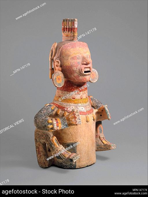 Deity Censer (Xantil). Date: 1200-1400; Geography: Mexico, Mesoamerica; Culture: Eastern Nahua; Medium: Ceramic; Dimensions: H. 22 5/8 x W. 15 1/8 x D