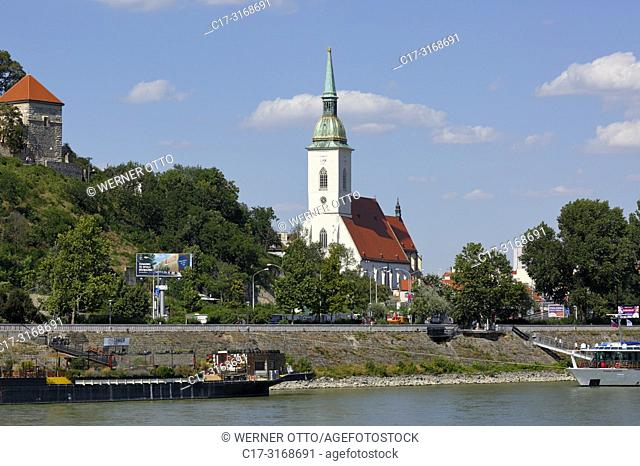 Bratislava, Slovak Republic, Slovakia, Bratislava, Capital City, Danube, Little Carpathians, St. Martins Cathedral, coronation church, catholic church, Gothic
