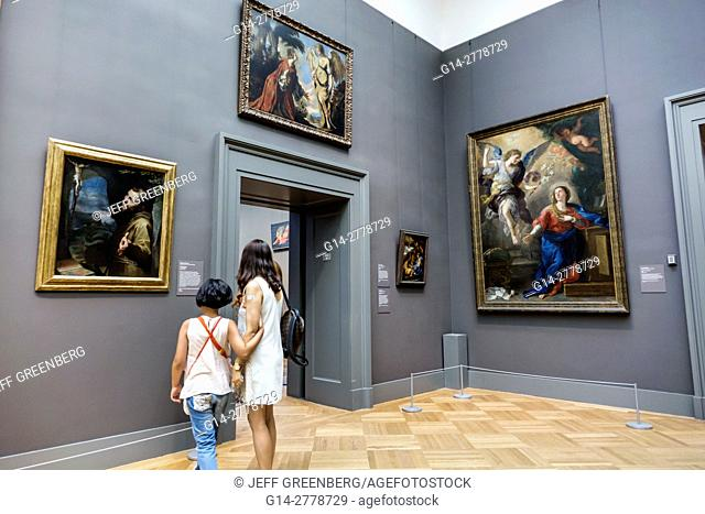 New York, New York City, NYC, Manhattan, Upper East Side, Fifth Avenue, Metropolitan Museum of Art, Met, gallery, painting, Italian Baroque, Annunciation