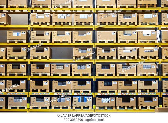 Warehouse, Automotive parts, Metallurgical industry, Gipuzkoa, Basque Country, Spain, Europe