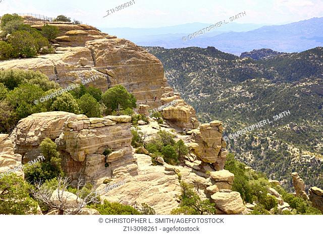 Hoodoo rock formations in the Mount Lemmon mountains of Arizona