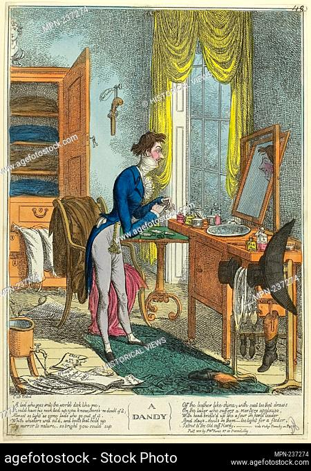 A Dandy - published 1818 - Charles Williams (English, 1797-1830) published by S.W. Fores (English, 1761-1838) - Artist: C