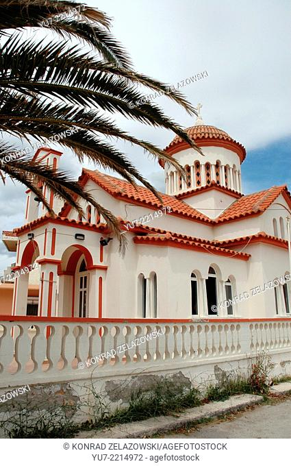 Small orthodox church in Kissamos town, greek isle of Crete