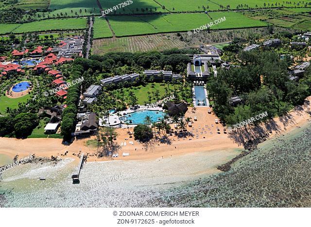 Mauritius, Bel Ombre, Strand und Hotel Resorts an der Suedkueste
