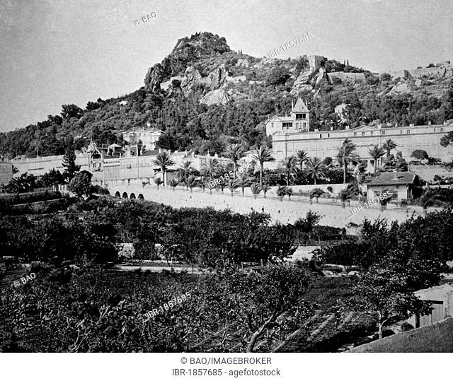 Early autotype of Hyeres, Provence-Alpes-Côte d'Azur, France, historical picture, 1884