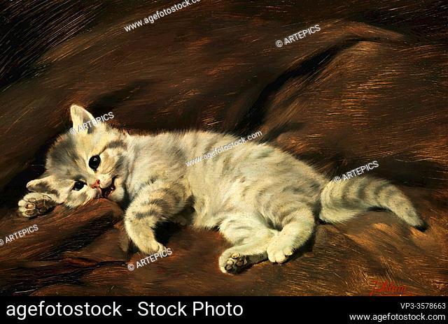Adam II Julius - Kitten 2 - German School - 19th and Early 20th Century