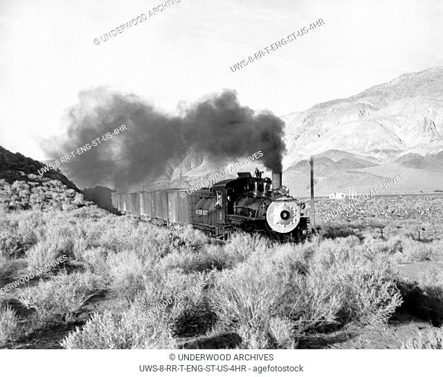 United States: c. 1930.Southern Pacific's Baldwin locomotive #9 somewhere in the West