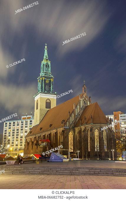 The Marienkirche Church in Alexanderplatz - Berlin - Germany