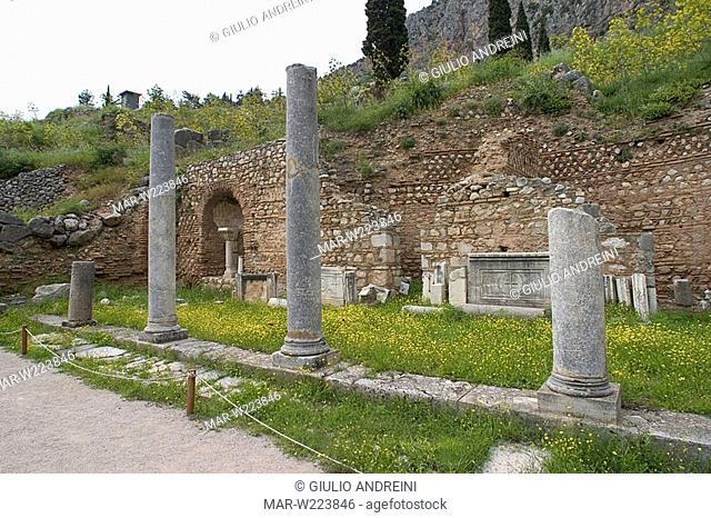 greece, delphi, archeological area, arkadians