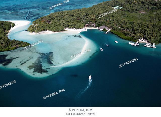 Mauritius island, ile aux cerfs and Mangenie island