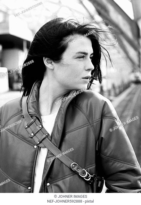 Portrait of a young Scandinavian woman, Sweden