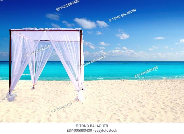 caribbean gazebo beach wedding massage