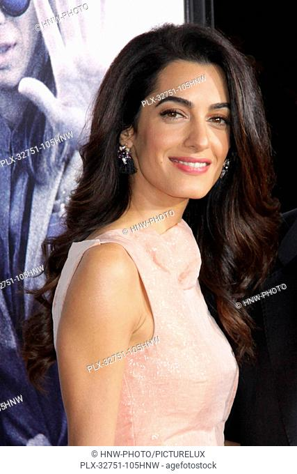 Amal Alamuddin Clooney, George Clooney 10/26/2015 The Los Angeles premiere of Our Brand is Crisis held at TCL Chinese Theatre in Hollywood