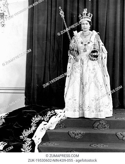 June 2, 1953 - London, England, U.K. - QUEEN ELIZABETH II has been crowned at a coronation ceremony in Westminster Abbey in London
